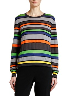 Armani Silk-Cashmere Striped Knit Sweater