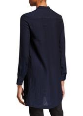 Armani Silk Cubic Stamped Tunic