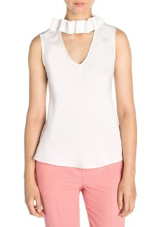 Armani Silk Detachable-Choker Sleeveless Top