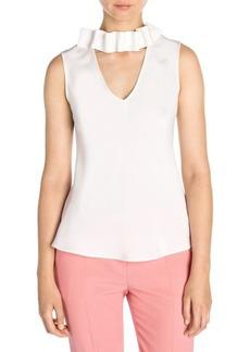 Armani Silk Detachable-Choker Sleeveless Top