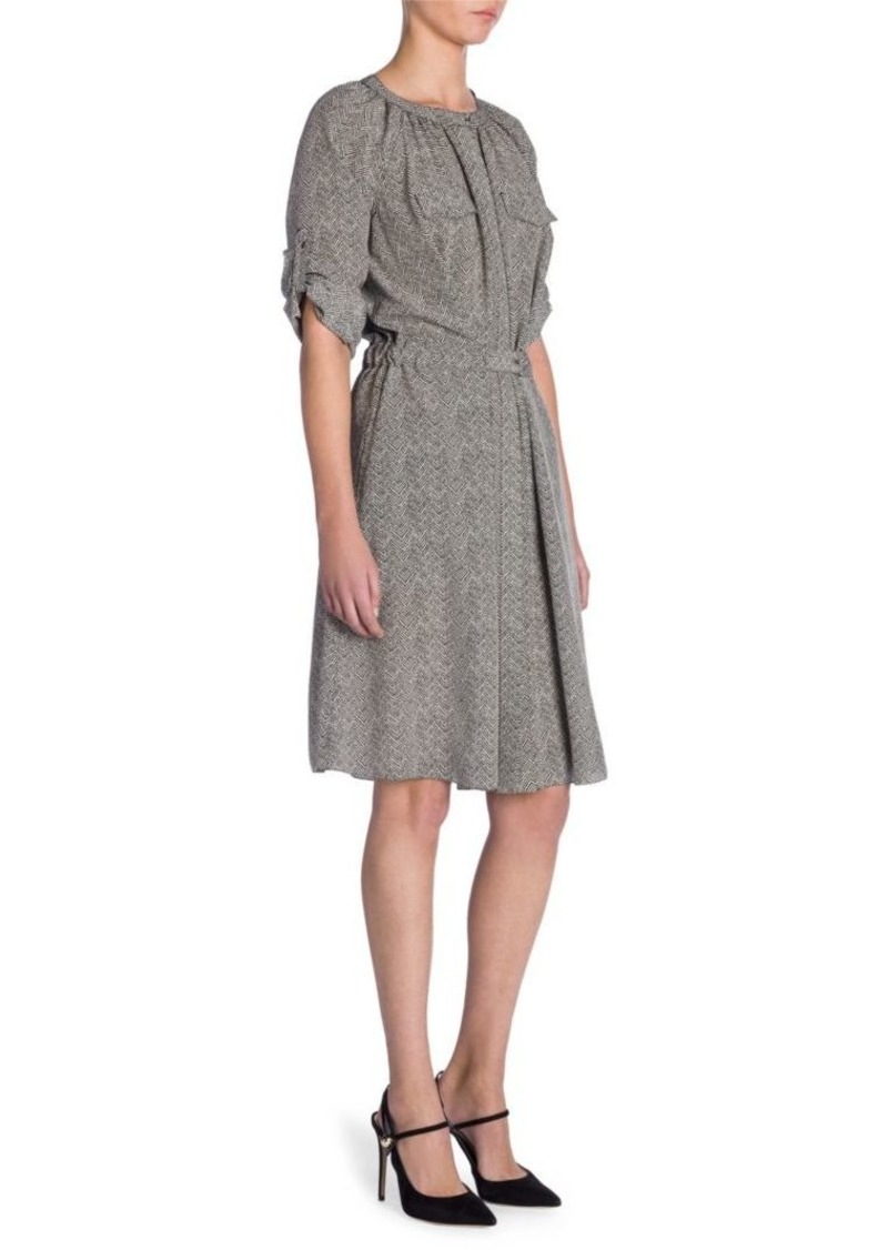Armani Silk Herringbone Dress