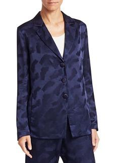 Armani Silk Jacquard Three-Button PJ Jacket