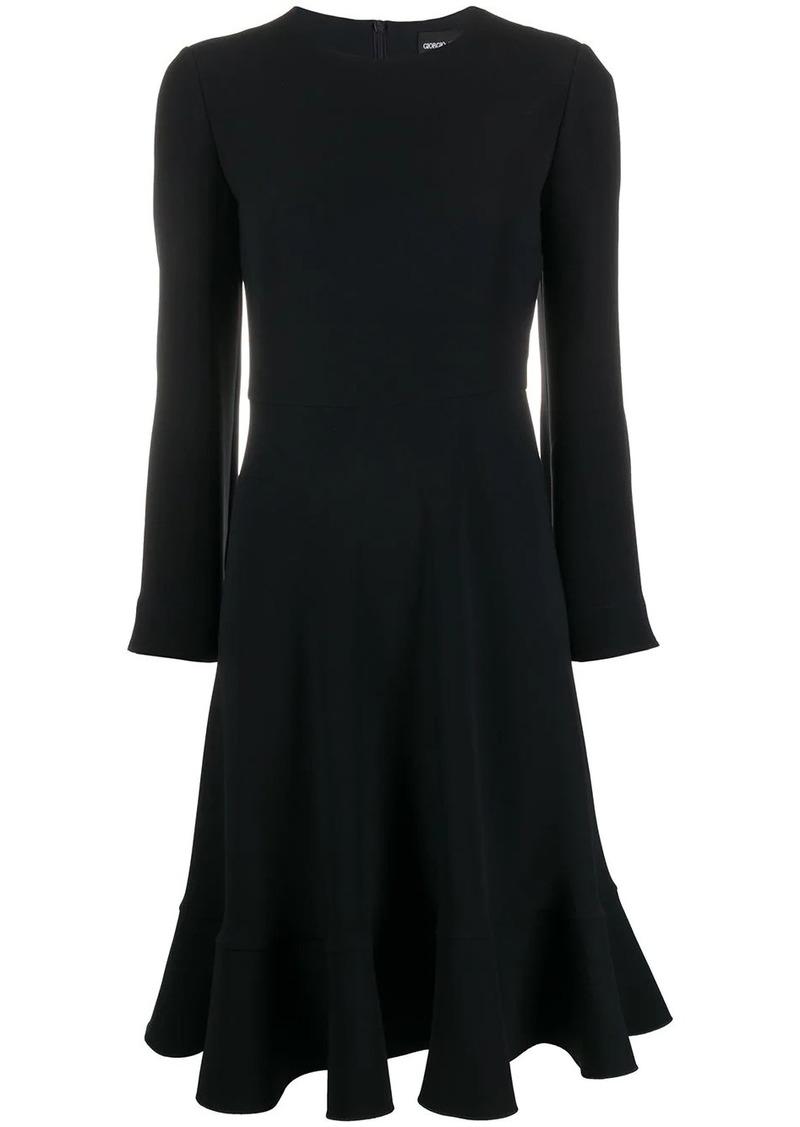 Armani silk midi dress