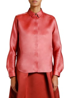 Armani Silk Organza Button-Front Blouse
