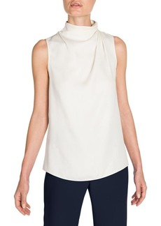 Armani Silk Ruched Shoulder Blouse
