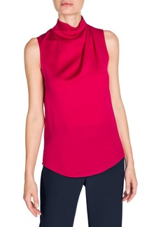 Armani Silk Ruched Sleeveless Blouse