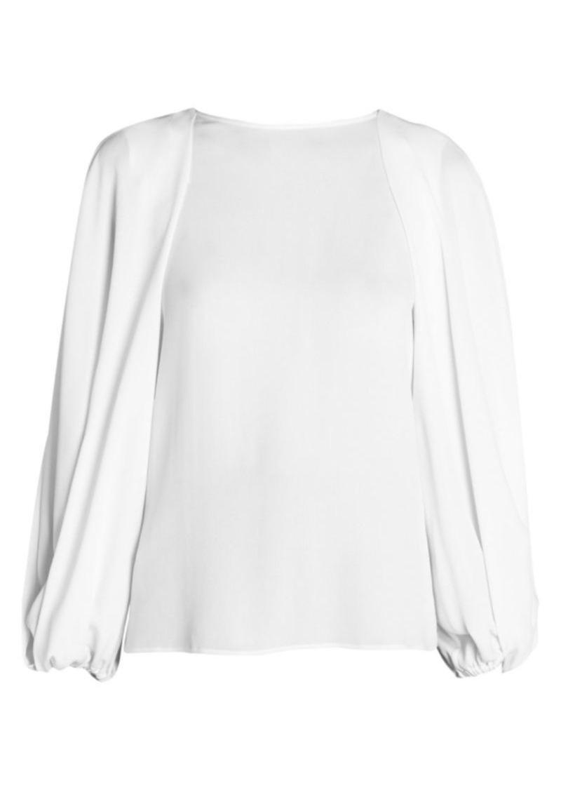 Armani Silk Sable Full Sleeve Blouse