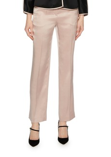 Armani Silk Satin Straight-Leg Pants