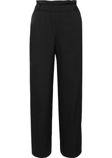 Armani Silk-satin Wide-leg Pants
