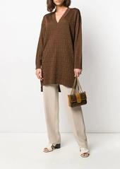 Armani silk straight leg trousers
