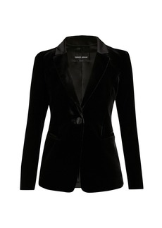 Armani Silk Viscose Velvet Jacket