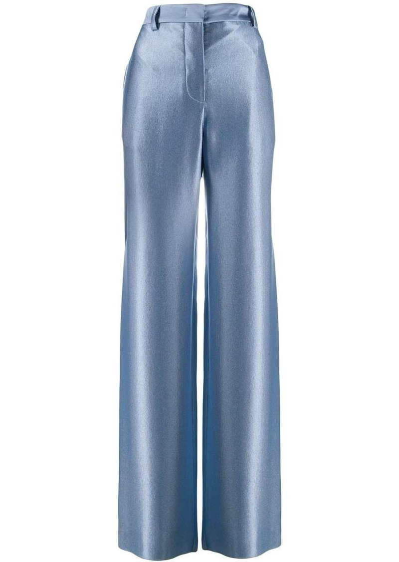 Armani silk wide leg trousers
