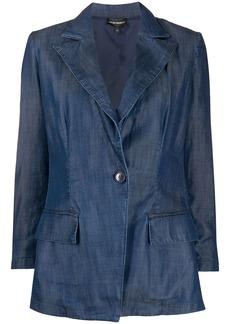 Armani single-breasted denim blazer