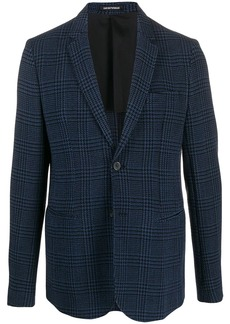 Armani single-breasted houndstooth blazer