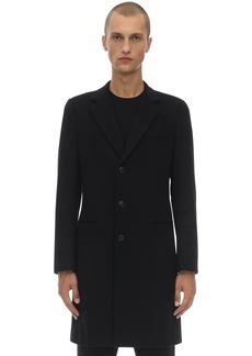 Armani Single Breasted Virgin Wool Coat