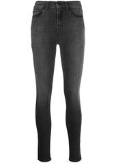 Armani stonewashed skinny jeans