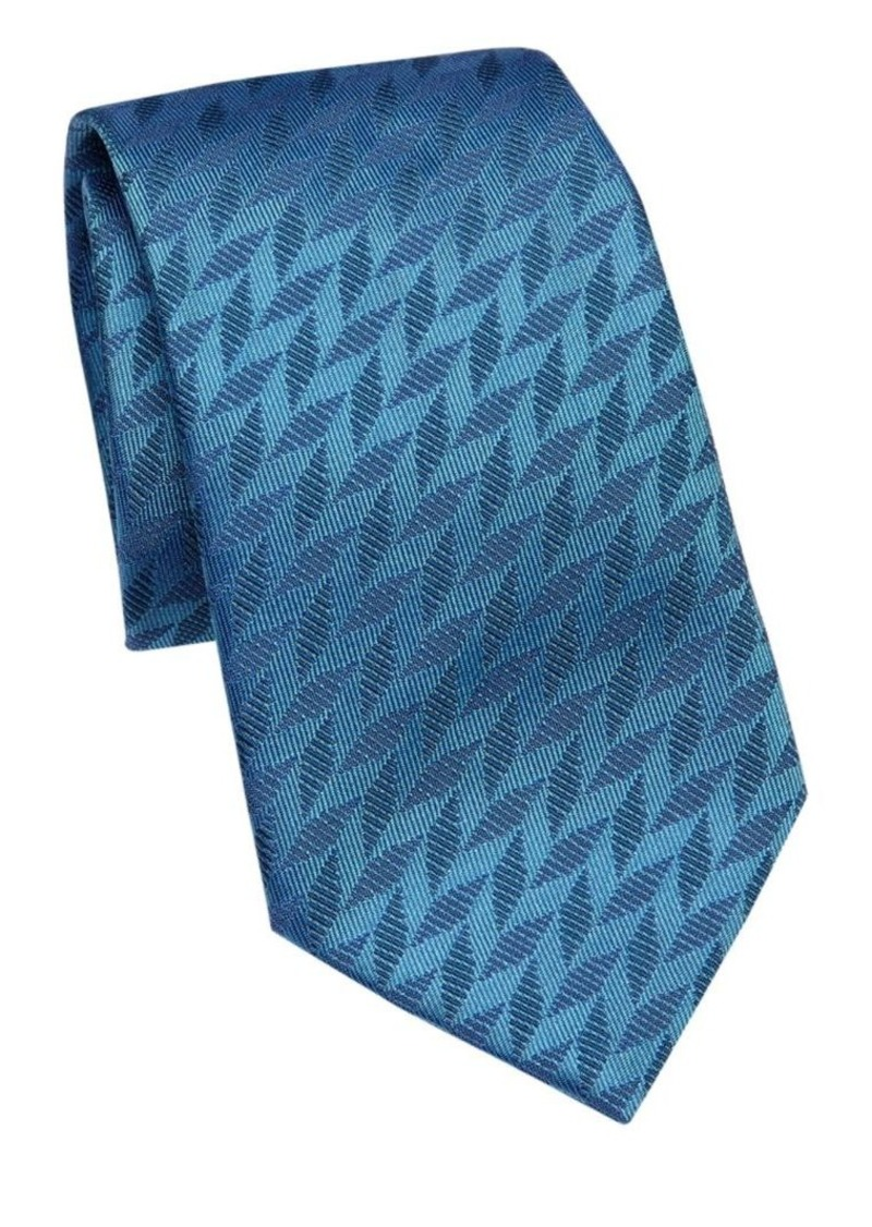 Armani Sky Blue Chevron Tie