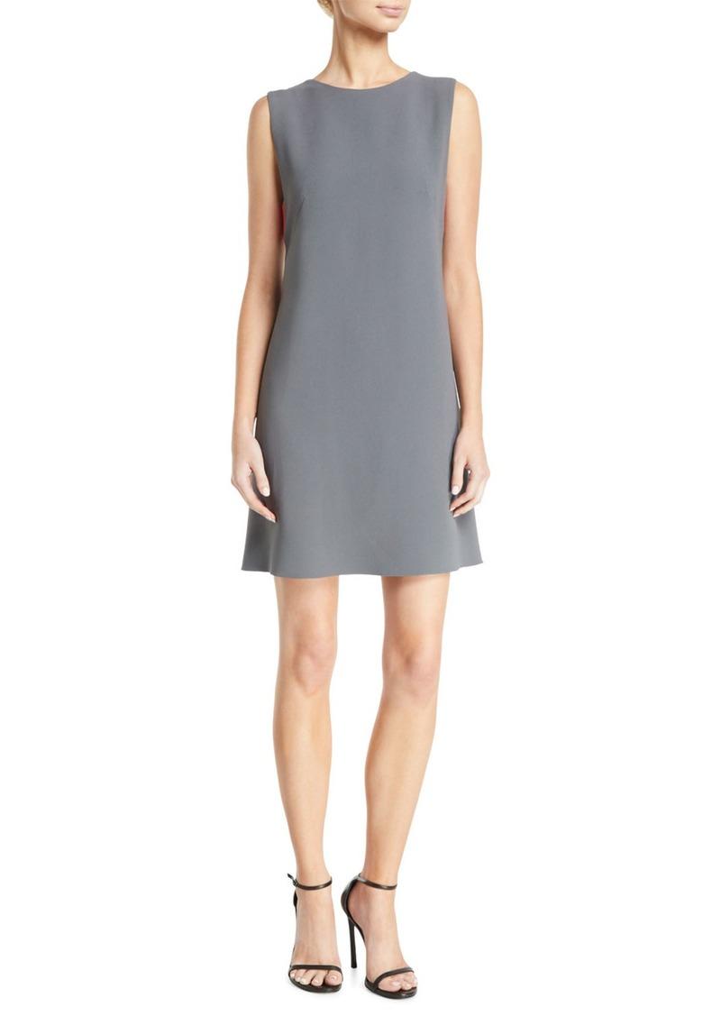 Armani Sleeveless Contrast Bra-Back Cady Shift Dress