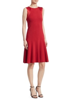 Armani Sleeveless Fit-&-Flare Dress