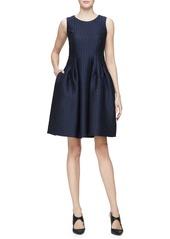 Armani Sleeveless Fit-&-Flare Dress  Indigo/Multi