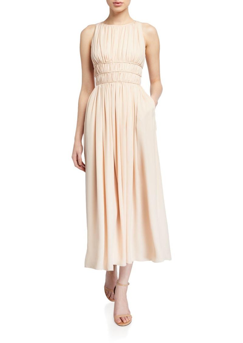Armani Sleeveless Georgette Pleated Goddess Dress