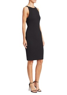 Armani Sleeveless Honeycomb Sheath Dress