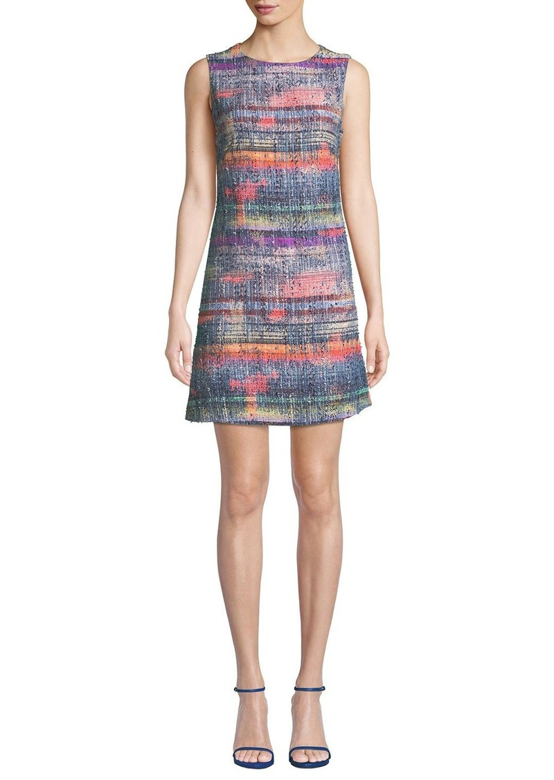 Armani Sleeveless Hyper-Tweed Shift Dress