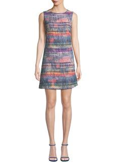 Armani Sleeveless Hyper-Tweed Shift Dress
