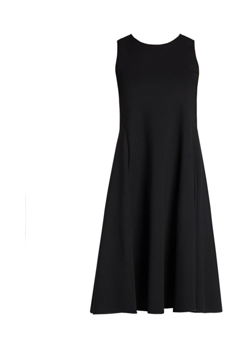 Armani Sleeveless Jersey Dress With Full Skirt