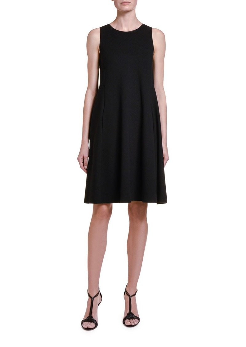 Armani Sleeveless Jersey Trapeze Dress