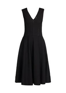 Armani Sleeveless Ottoman Jersey Dress