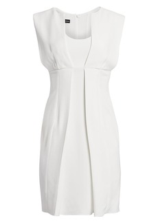 Armani Sleeveless Pleat Front Dress
