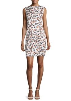 Armani Sleeveless Printed Sheath Dress  Sienna/Multi