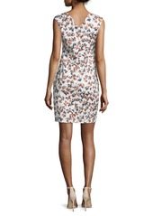 Armani Sleeveless Printed Sheath Dress  Sienna/Multi