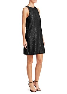 Armani Sleeveless Sequin Shift Dress