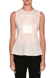 Armani Sleeveless Silk Shell with Origami Panel