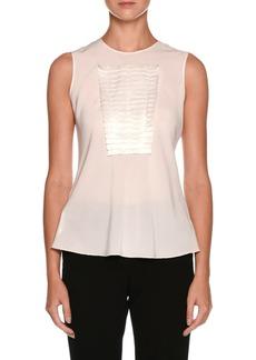 Armani Sleeveless Silk Shell with Origami Panel