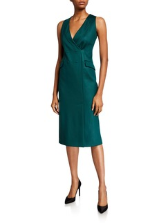 Armani Sleeveless Techno-Jersey Blazer Dress