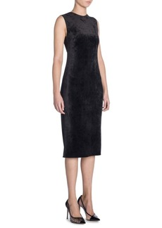Armani Sleeveless Velvet Midi Sheath Dress