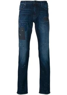Armani slight bootcut washed jeans