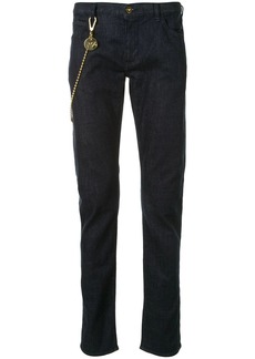 Armani slim fit chain detail jeans
