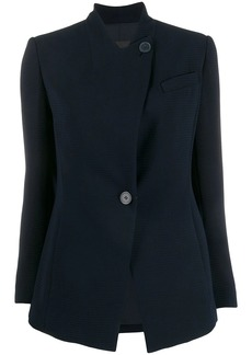 Armani slim-fit collarless blazer