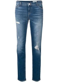 Armani slim fit distressed jeans