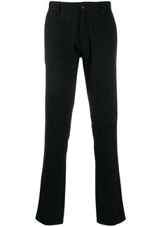 Armani slim-fit logo plaque trousers