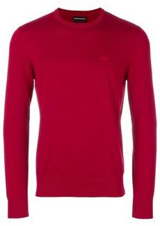 Armani slim fit logo sweater