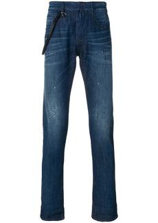 Armani slim-fit roll up jeans