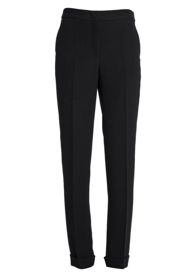 Armani Slim-Fit Stretch Wool-Blend Trousers