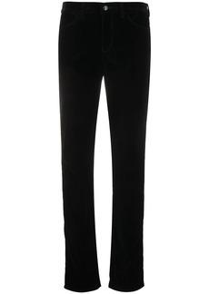 Armani slim-fit velvet trousers