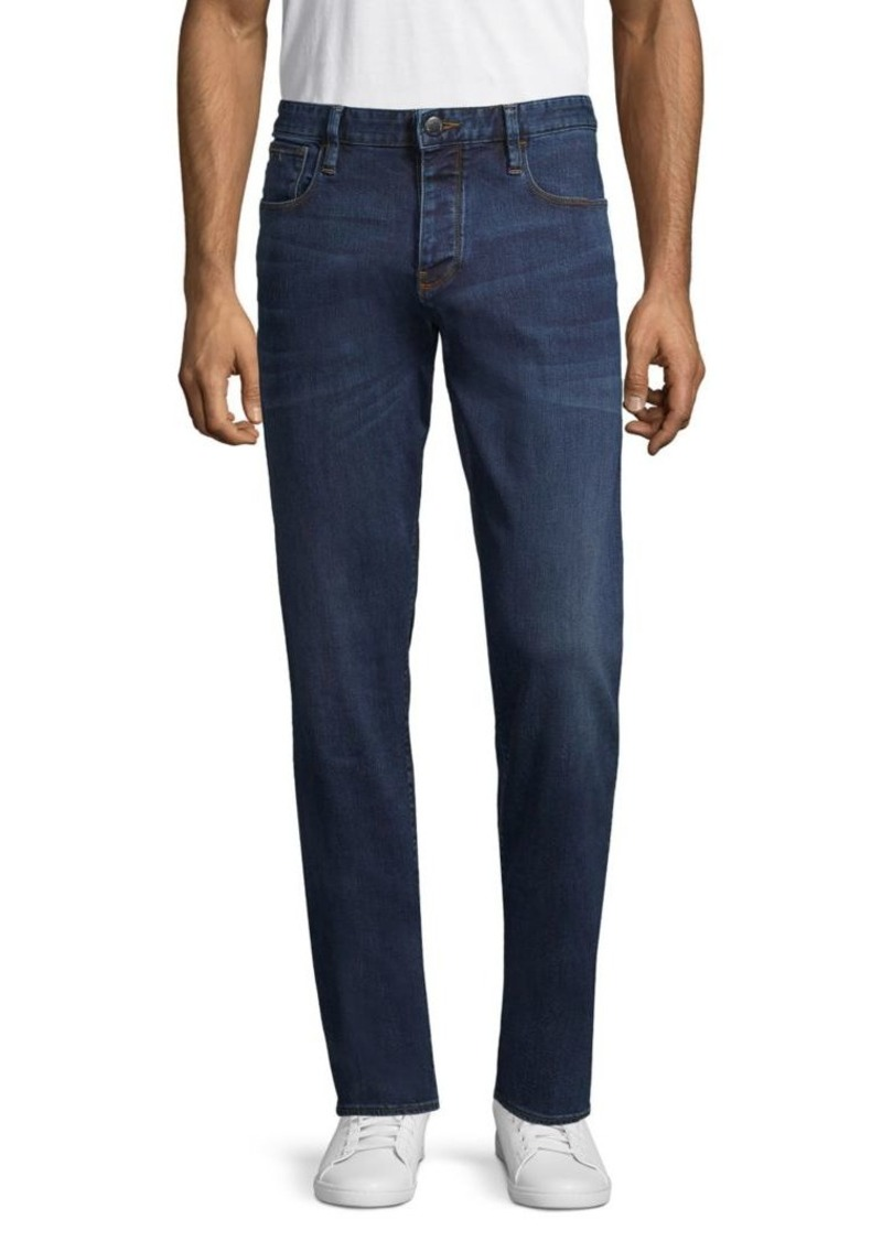 Armani Slim-Fit Whiskered Jeans