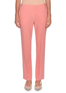 Armani Slim-Leg Stretch Wool Pants  Pink